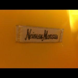 Neiman Marcus Bags - Neiman Marcus Yellow Fake Snake Tote